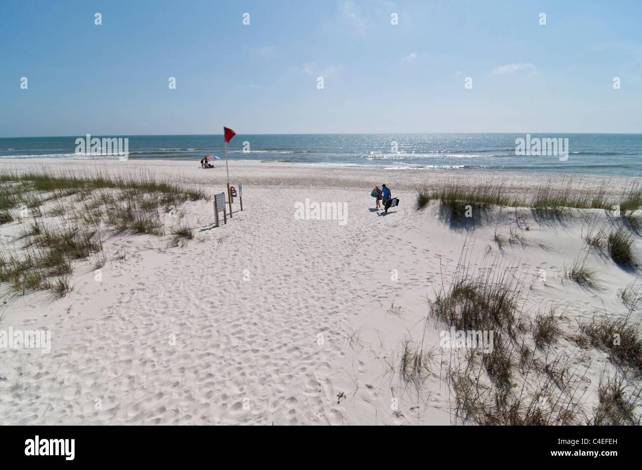 Gulf beaches along Florida's Panhandle at St. Joseph Peninsula State Park. Stock Photo