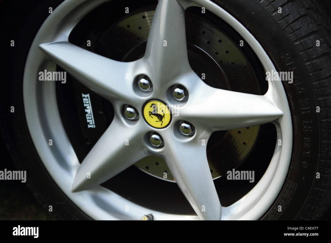 Ferrari Mag Wheel Stock Photo Alamy