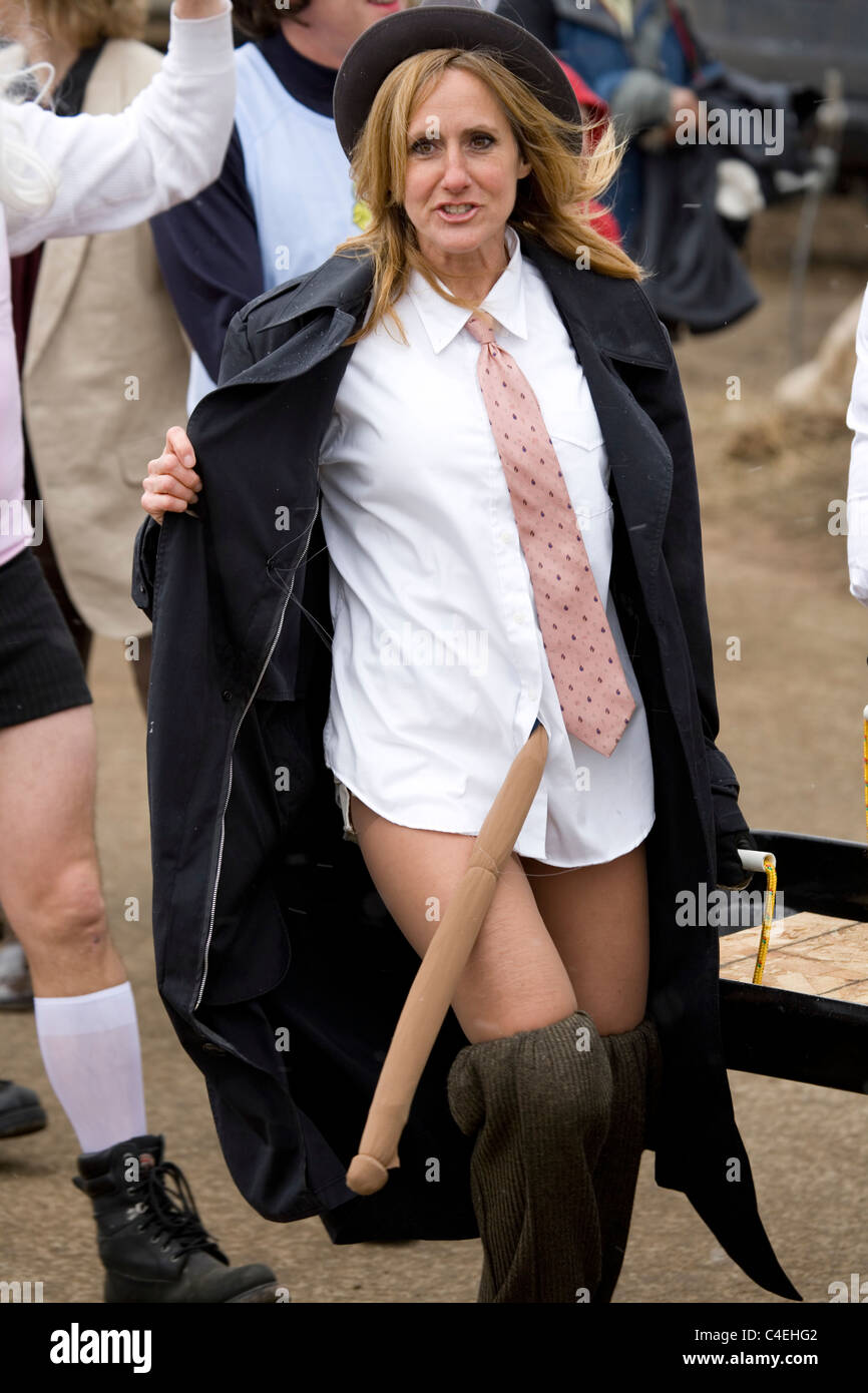a woman dressed as a flasher marches in a parade carrying a coffin stock photo 37200466 alamy. Black Bedroom Furniture Sets. Home Design Ideas