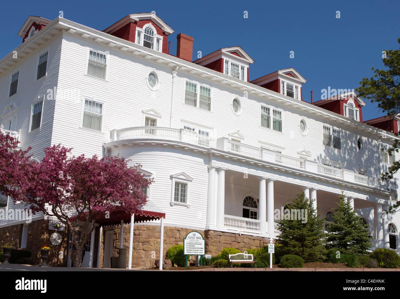 The Stanley Hotel, Estes Park Colorado - Stock Image