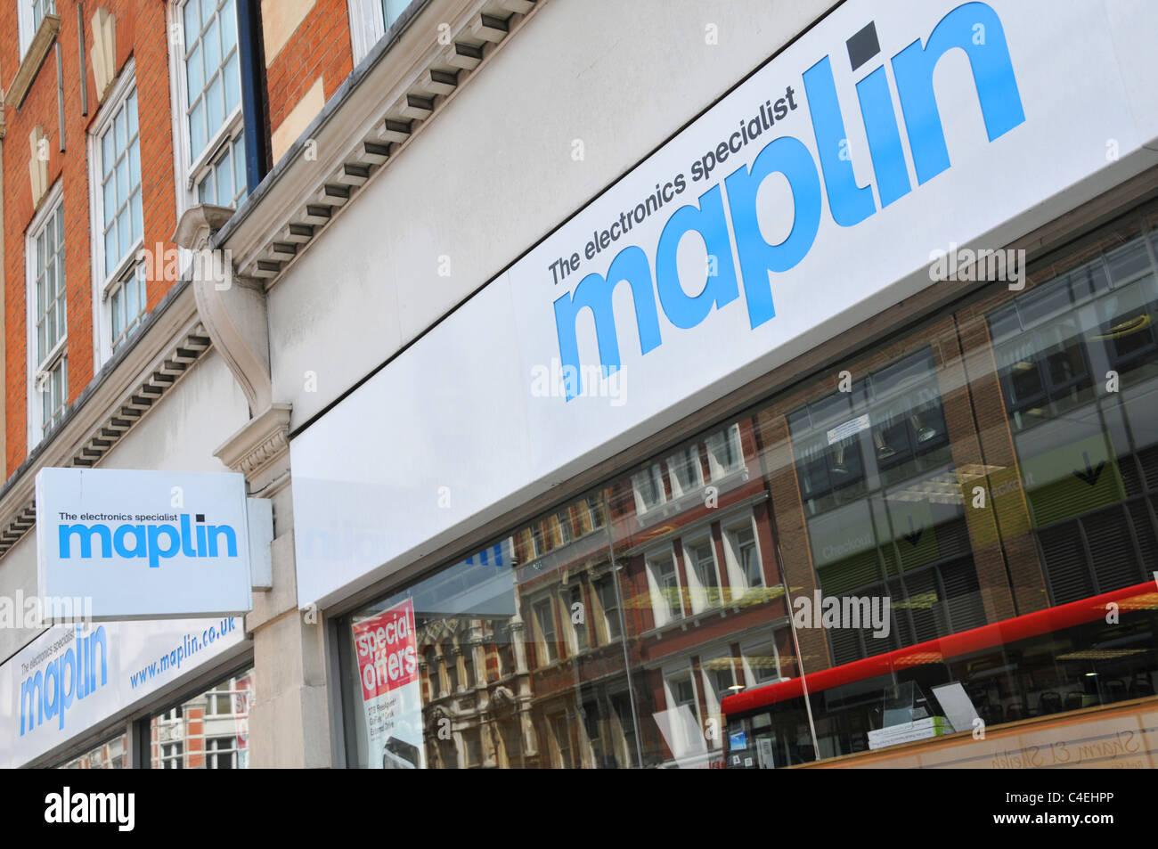Maplin electronics store Tottenham Court Road London - Stock Image