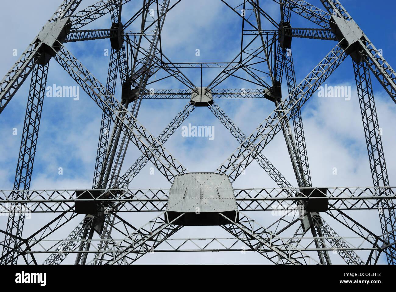 Electricity pylon, Wales, UK Stock Photo