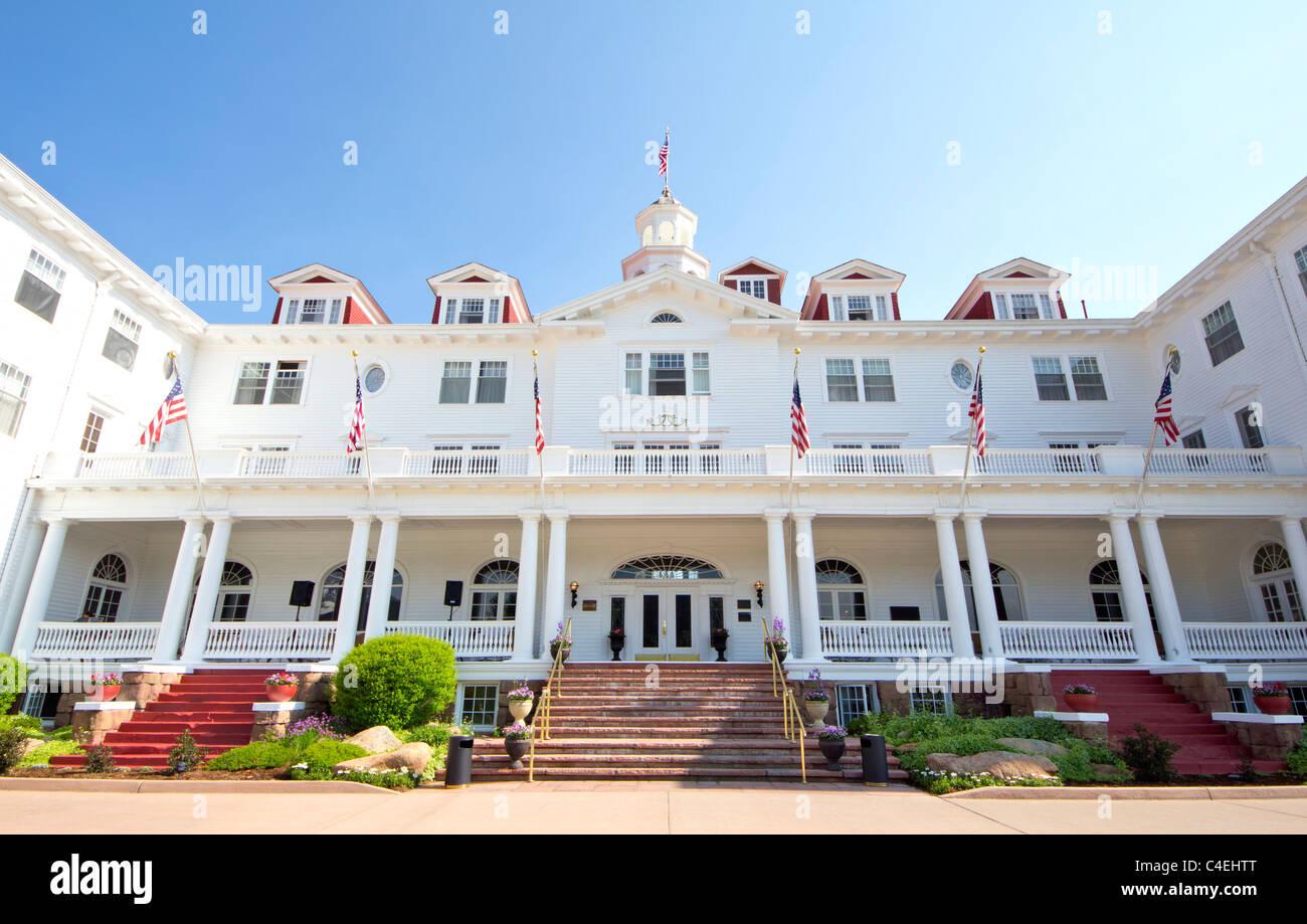 The Stanley Hotel in Estes Park, Colorado - Stock Image