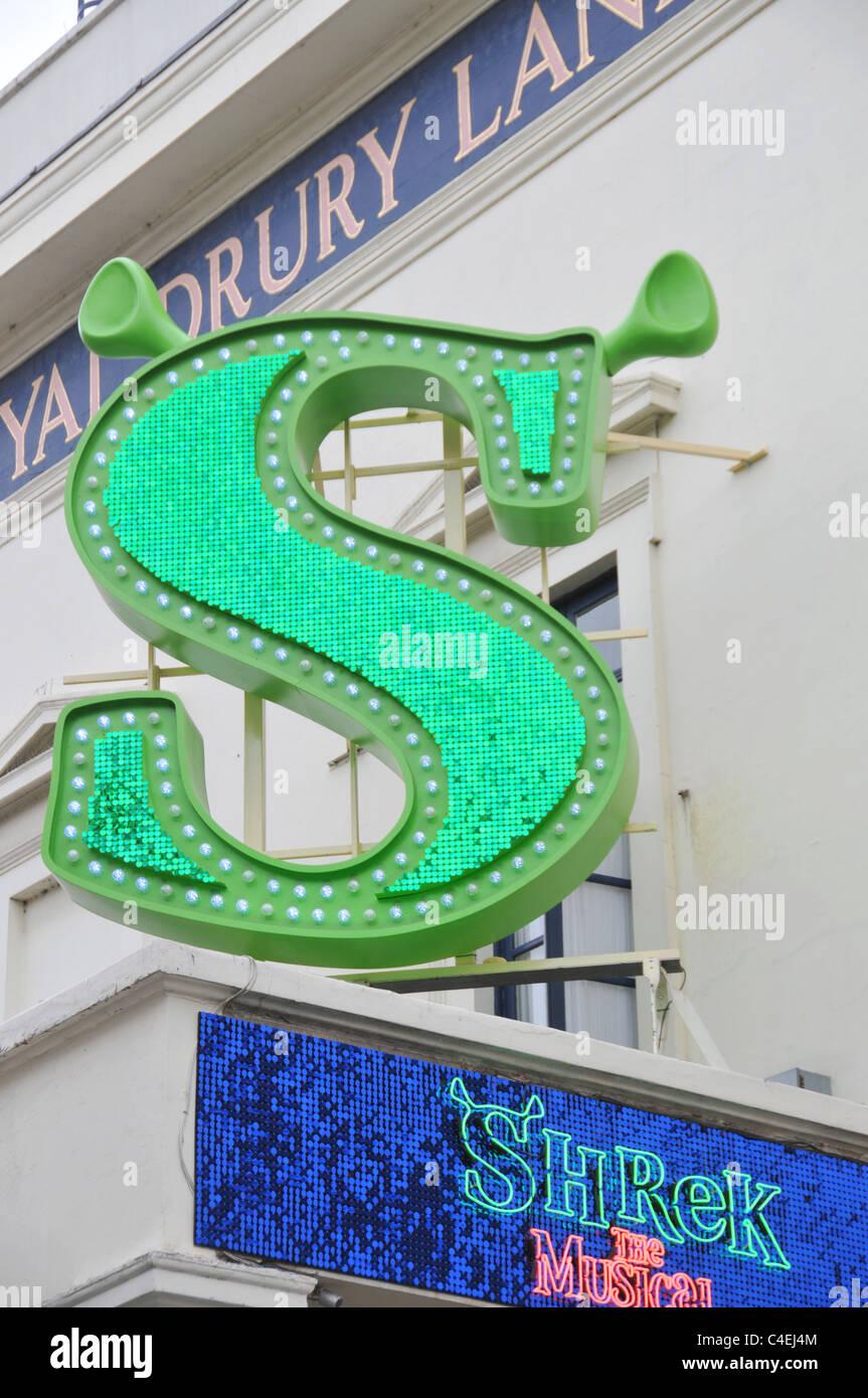 Shrek Musical Theatre Royal Drury Lane - Stock Image