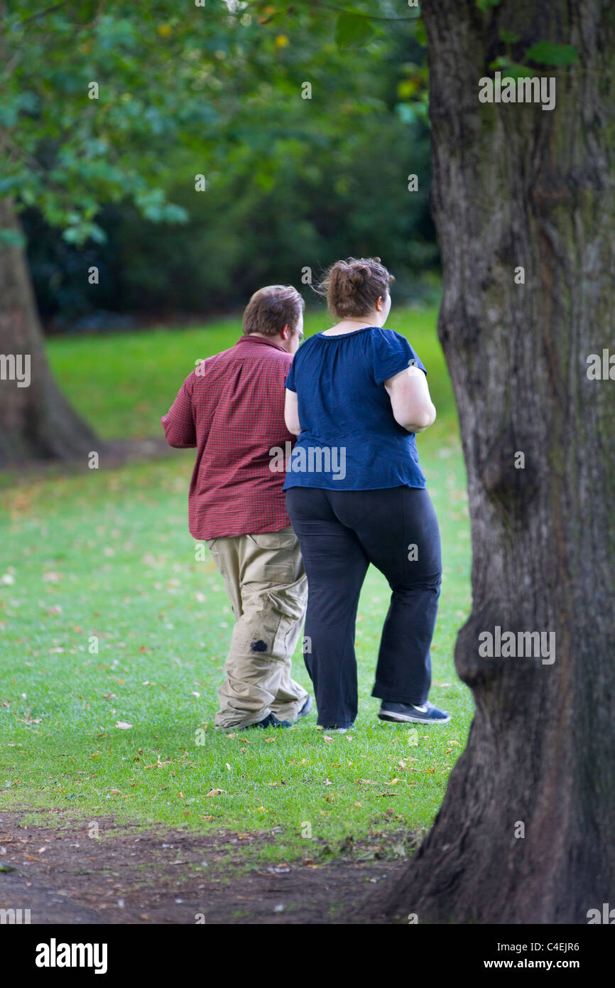 overweight couple - Stock Image
