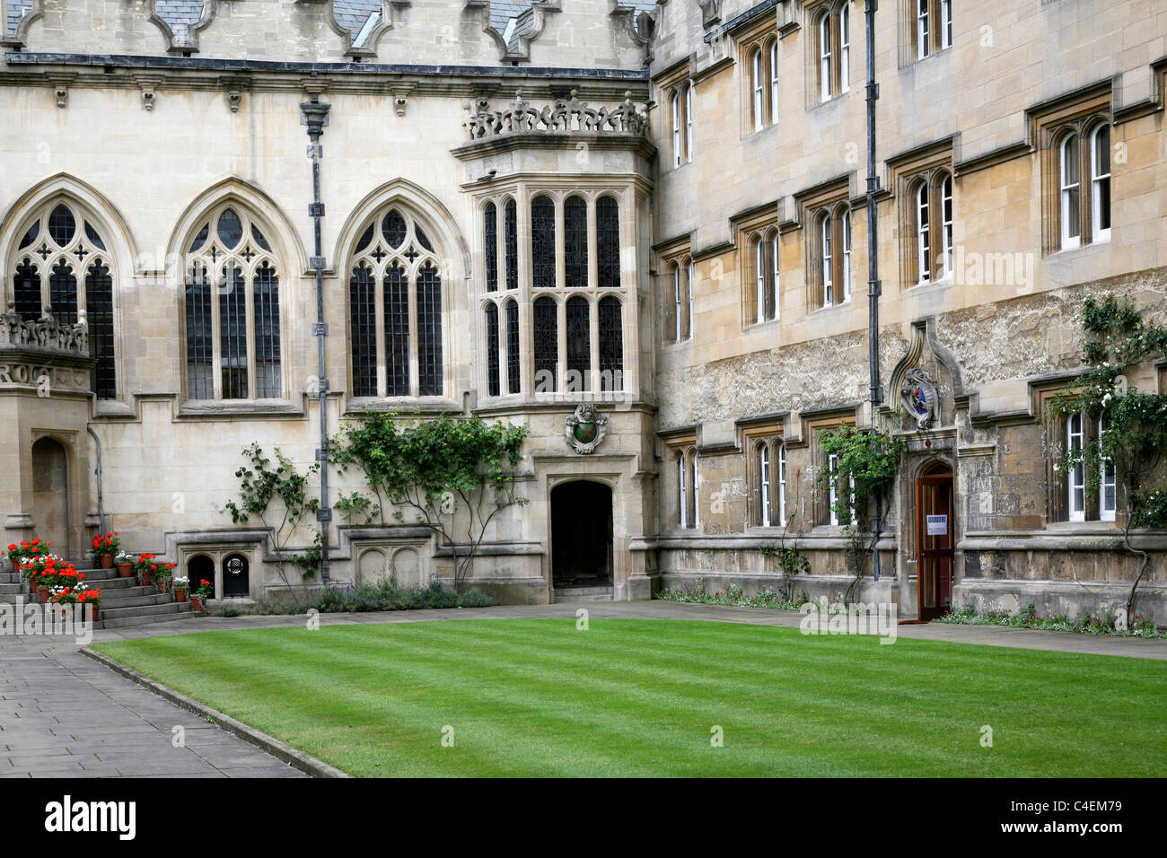 Oxford University Oriel College First Quad - Stock Image
