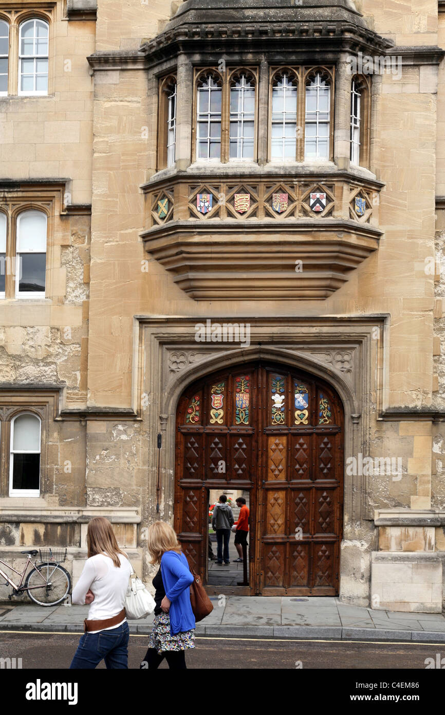 Oxford University Oriel College Front Gate - Stock Image