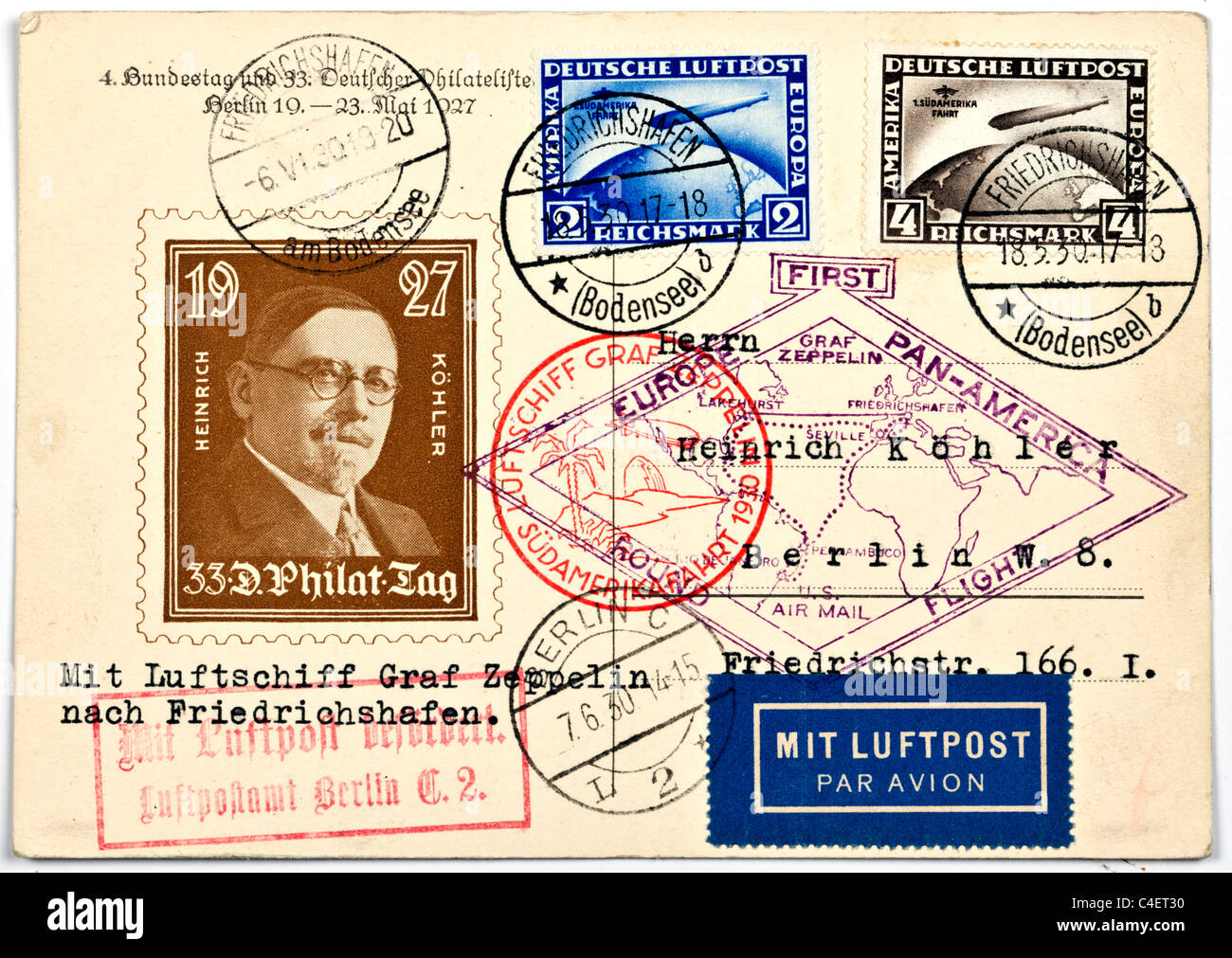 Airmail Stamps Stock Photos & Airmail Stamps Stock Images