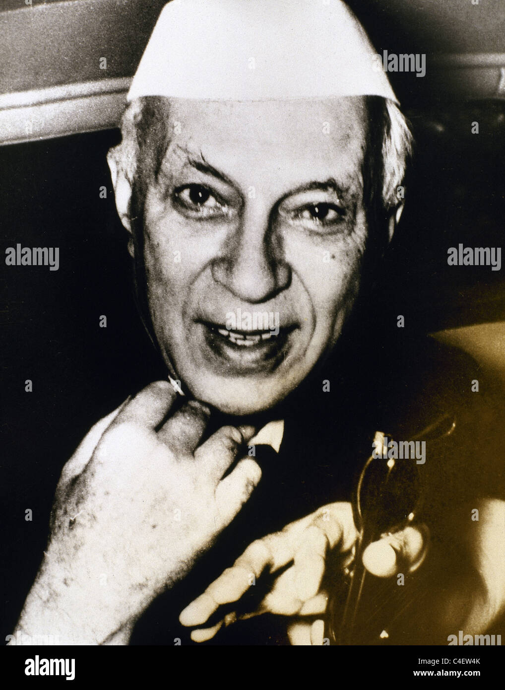 Jawaharlal Nehru (1889-1964). Indian statesman who was the first and longest-serving Prime Minister of India. - Stock Image