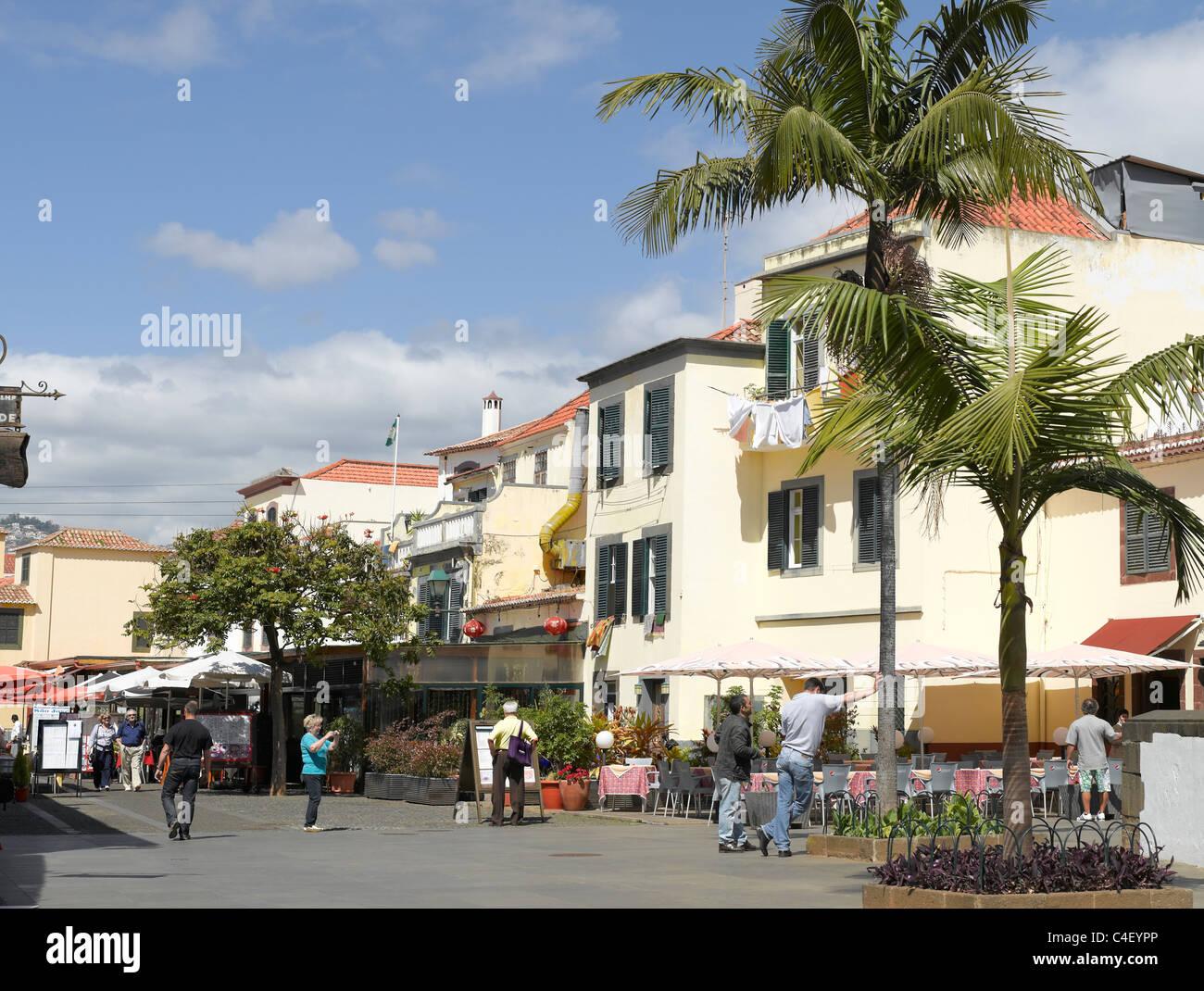 Zona Velha Old Town Funchal Madeira Portugal EU Europe Stock Photo