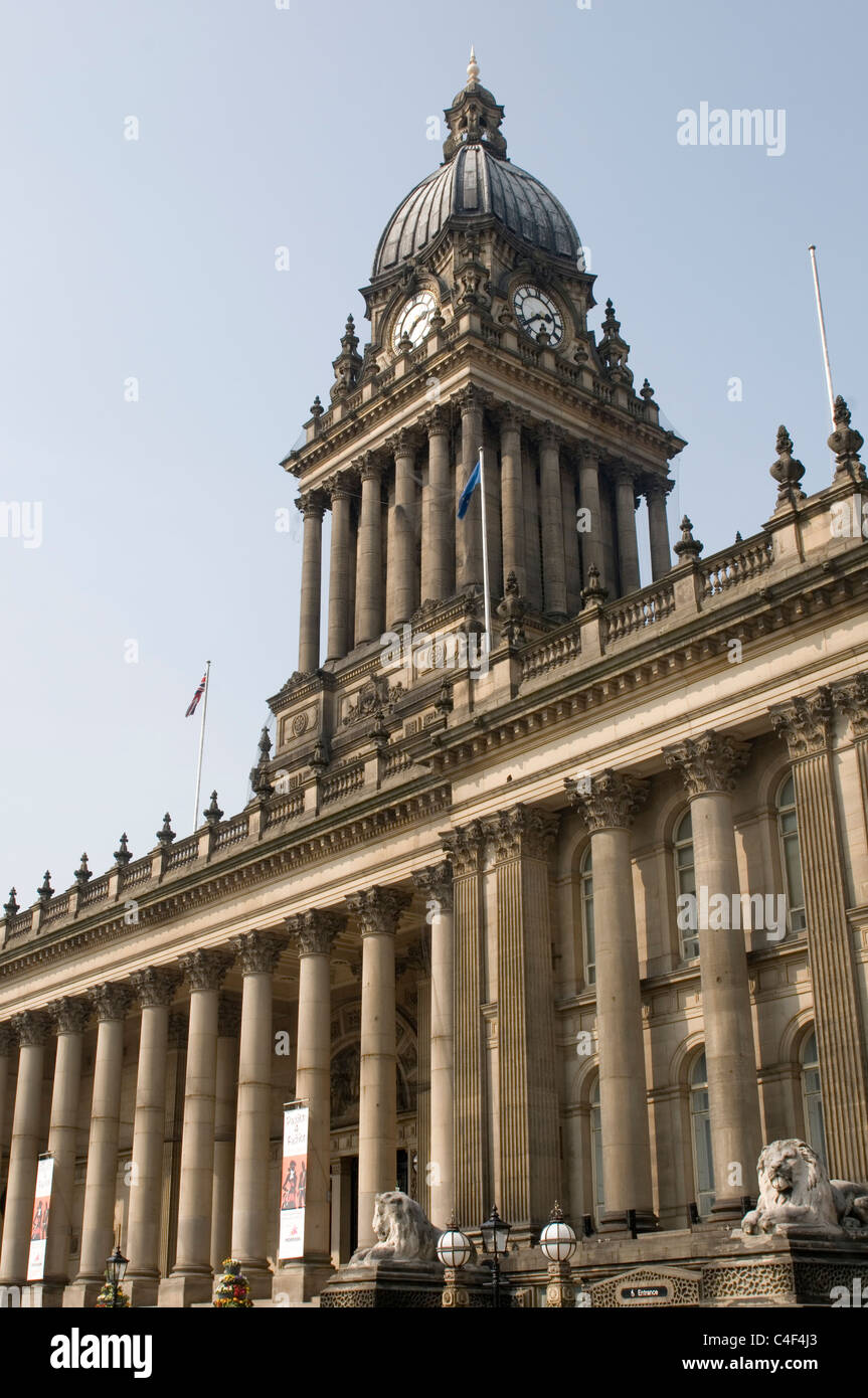 leeds town hall north yorkshire uk - Stock Image