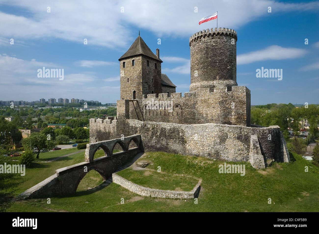 The medieval castle in Bedzin, Silesia, Poland Stock Photo