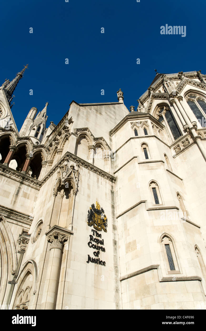 High Court of Justice, London, UK - Stock Image