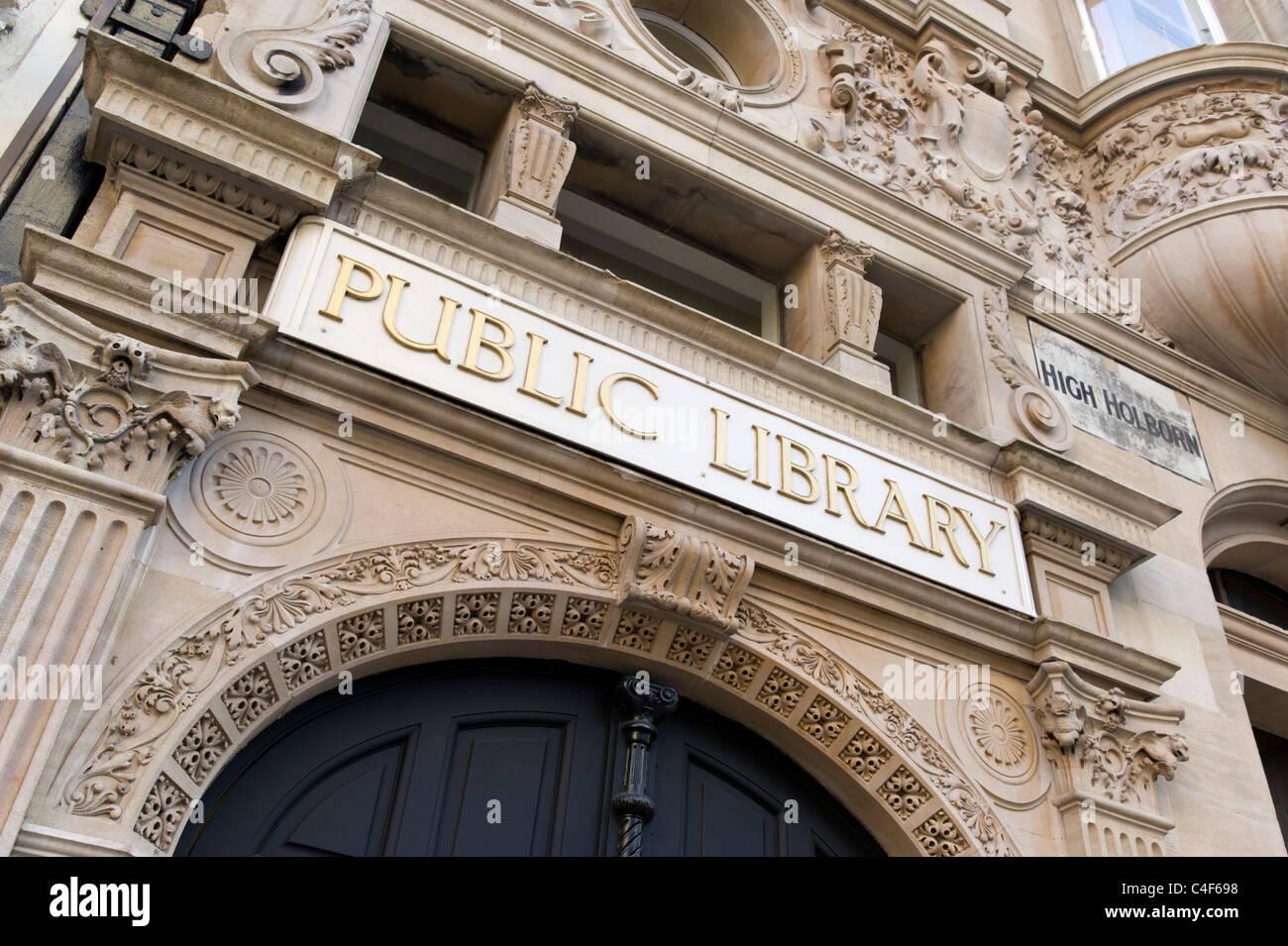 Public library on High Holborn, London, UK - Stock Image