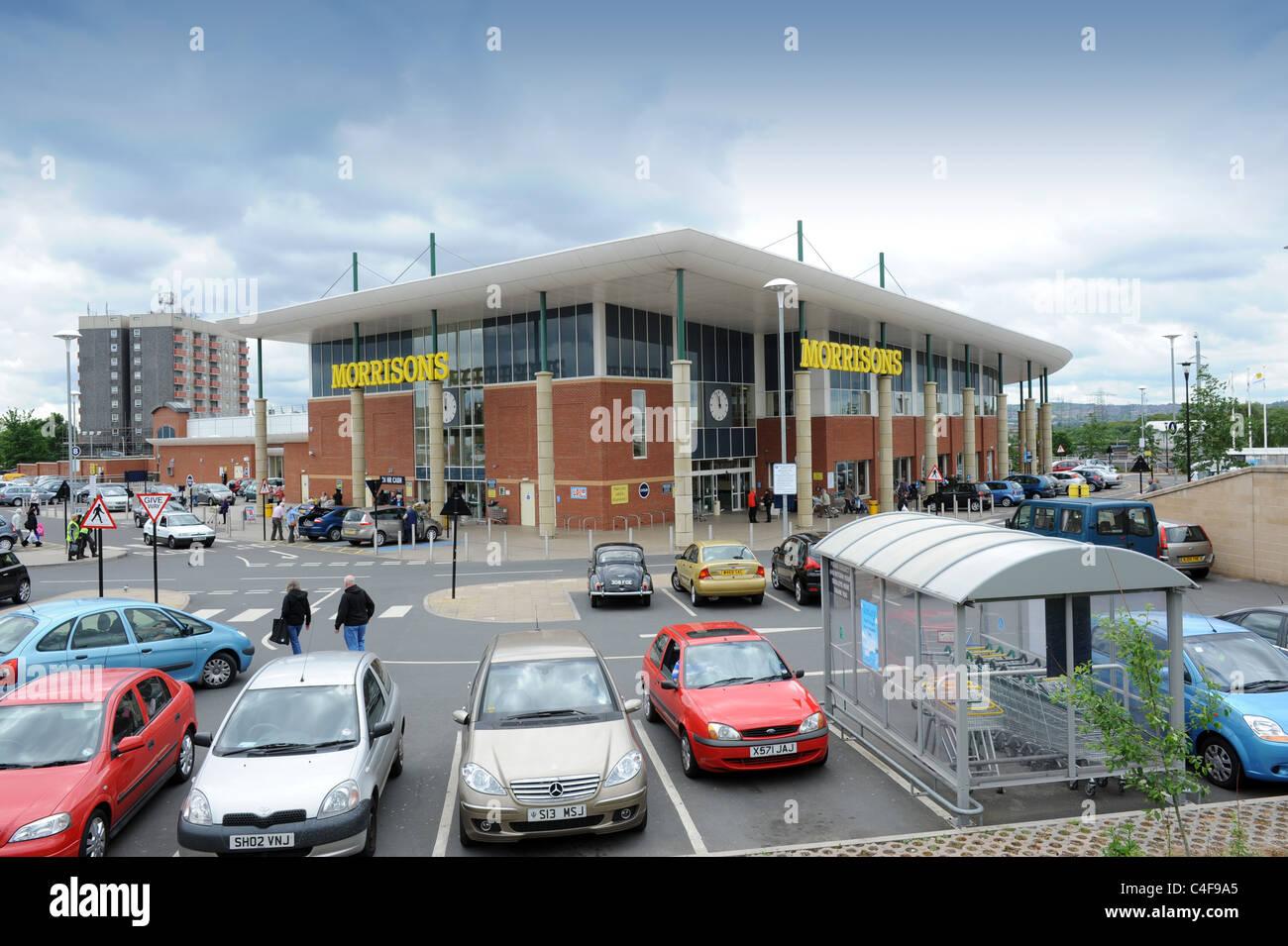 Wednesbury Morrisons Supermarket West Midlands England Uk - Stock Image