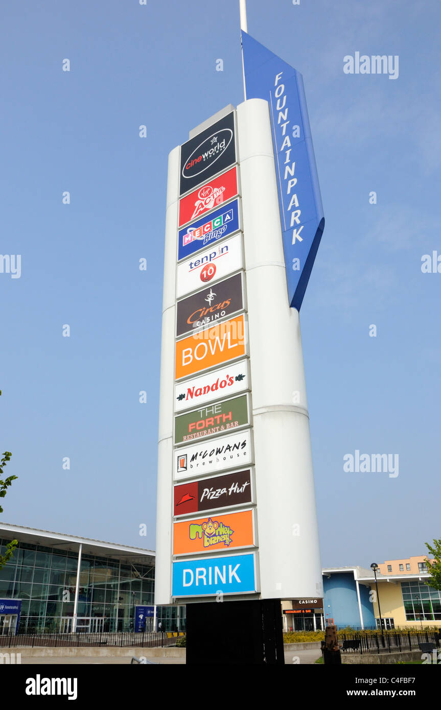 Sign For Fountainpark Leisure Complex Edinburgh Stock Photo Alamy