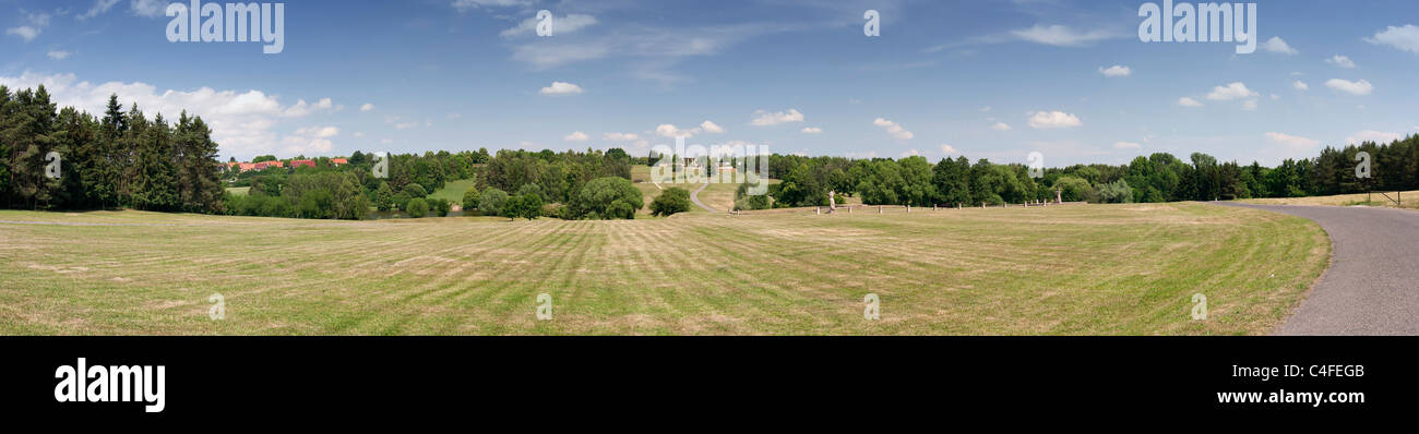 Here was the village of Lidice Stock Photo
