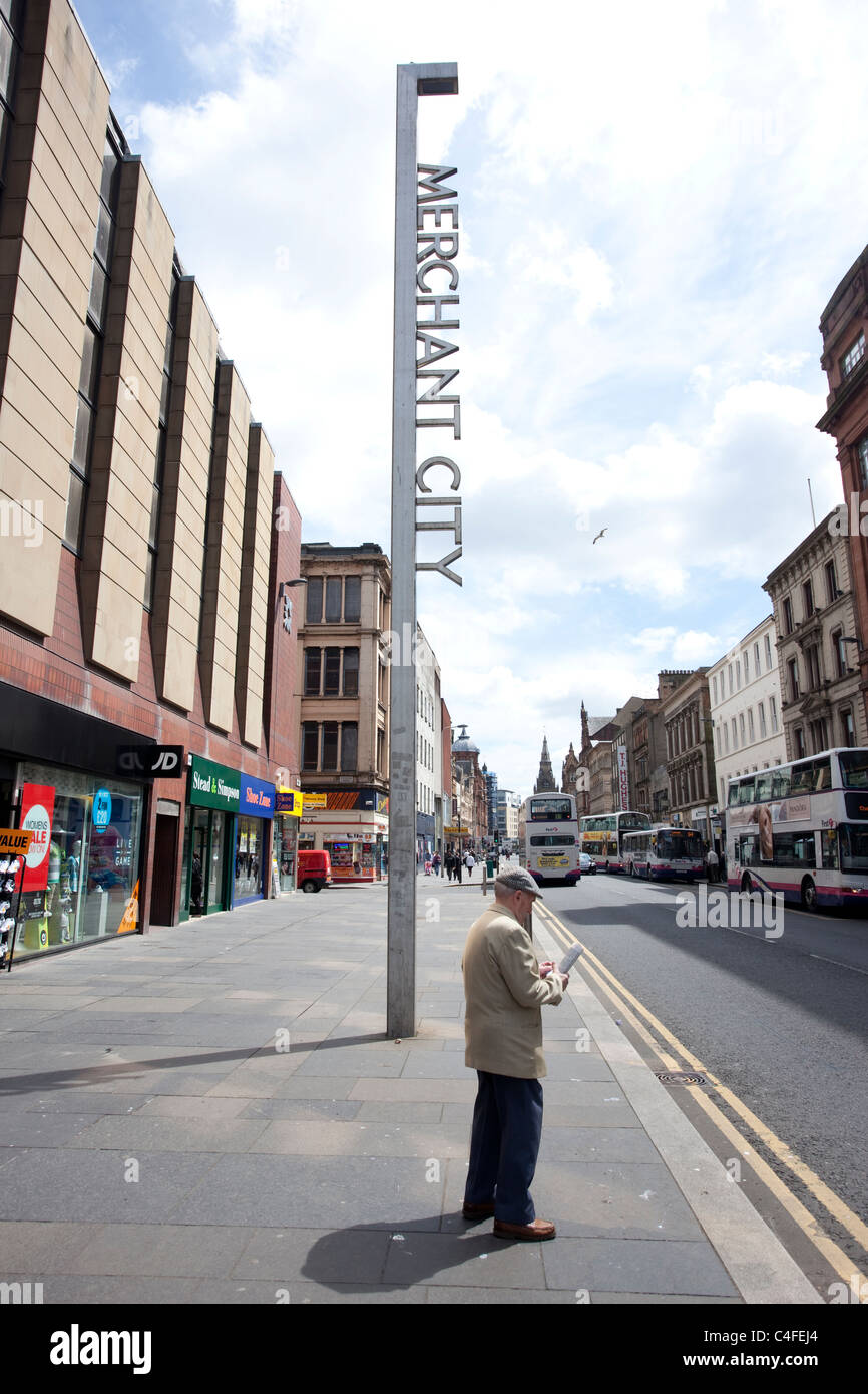 Merchant City Trongate Glasgow Scotland. Photo:Jeff Gilbert - Stock Image
