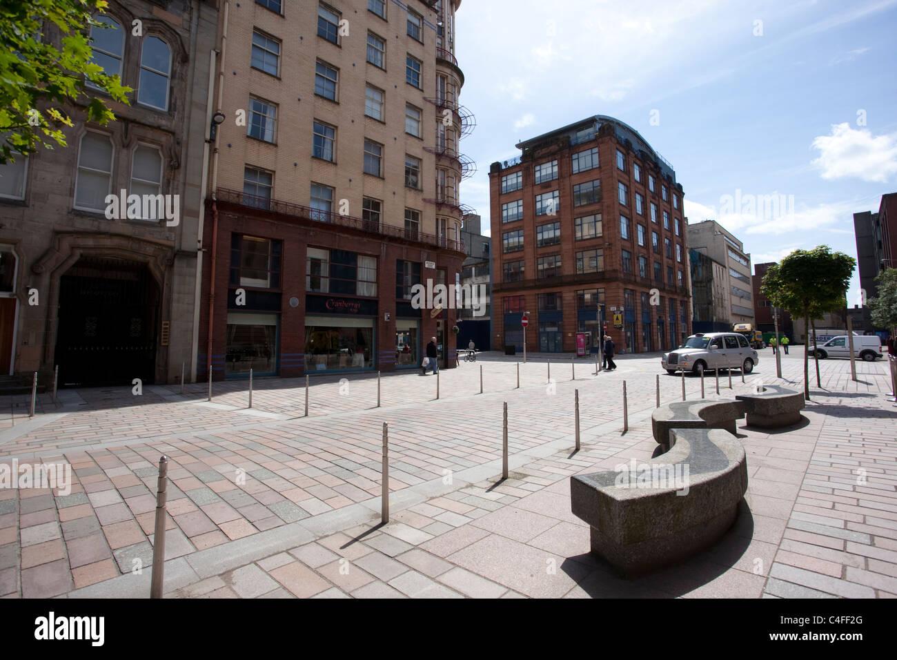 Brunswick Street in the Merchant City area of Glasgow, Scotland. Photo:Jeff Gilbert - Stock Image
