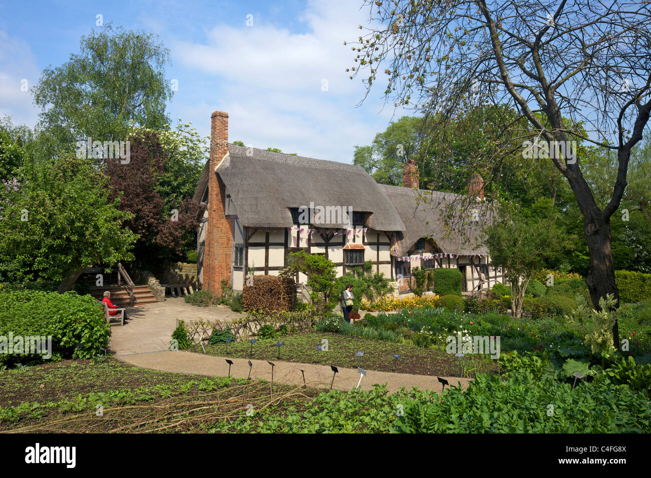 Anne Hathaway's Cottage, Shottery, Stratford-upon-Avon, Warwickshire, England, UK, United Kingdom, GB, Great - Stock Image