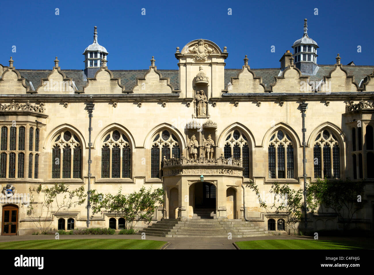 Front Quad,Oriel College, Oxford University, Oxford, Oxfordshire, England,  United Kingdom ,UK - Stock Image