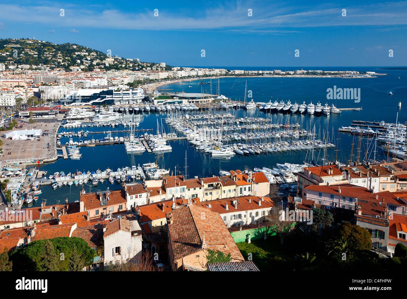 Cote d'Azur, Cannes Harbor - Stock Image
