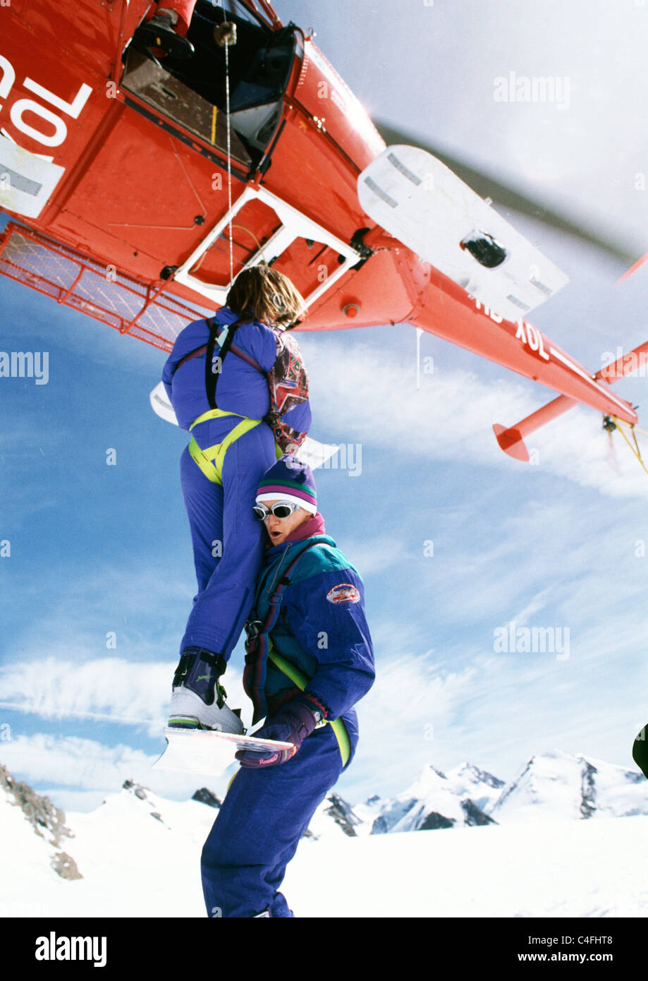 helicopter lifeguard Stock Photo