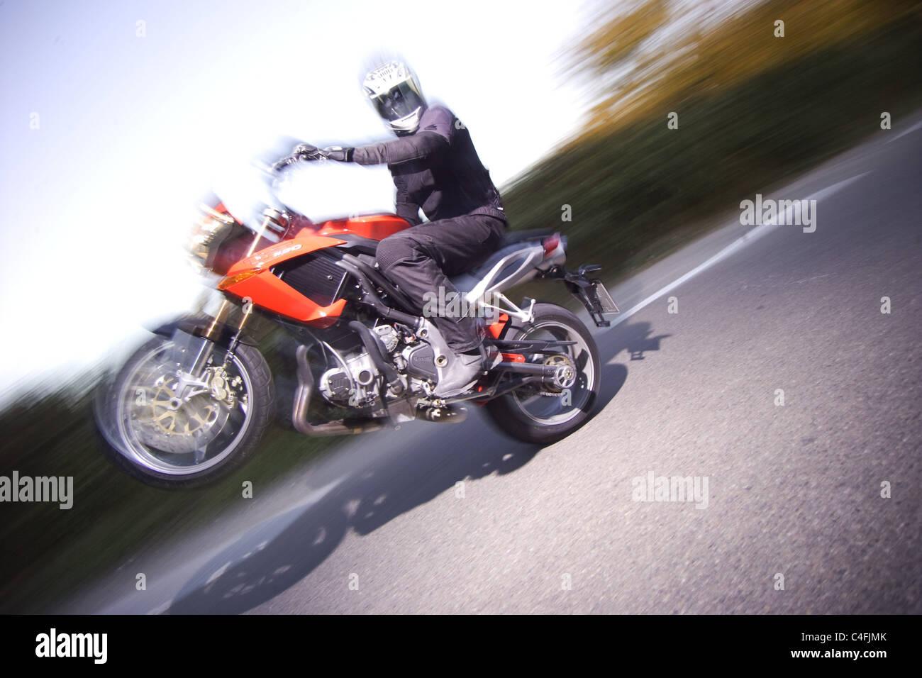 Biker - Stock Image