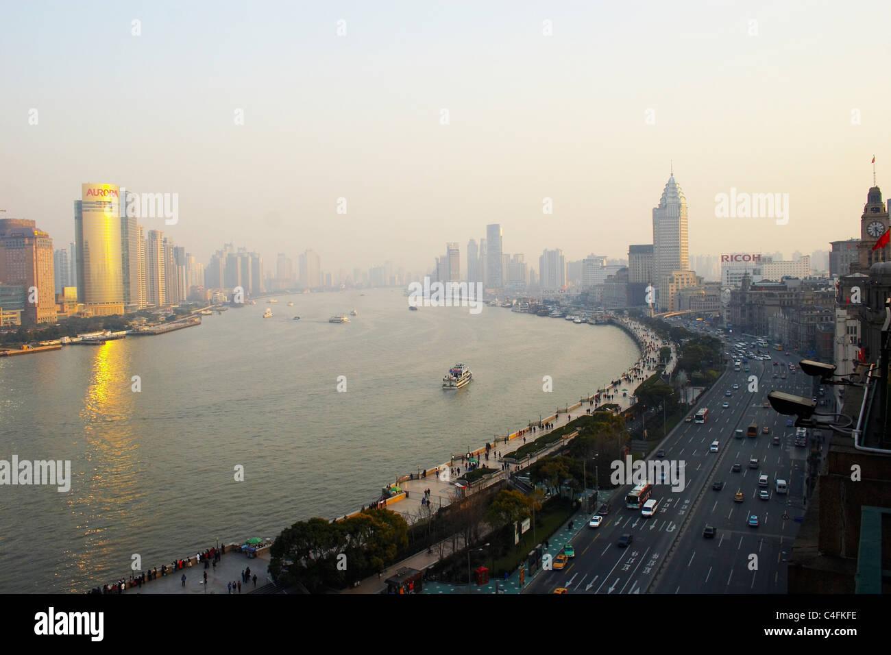 skyline Shanghai - Stock Image
