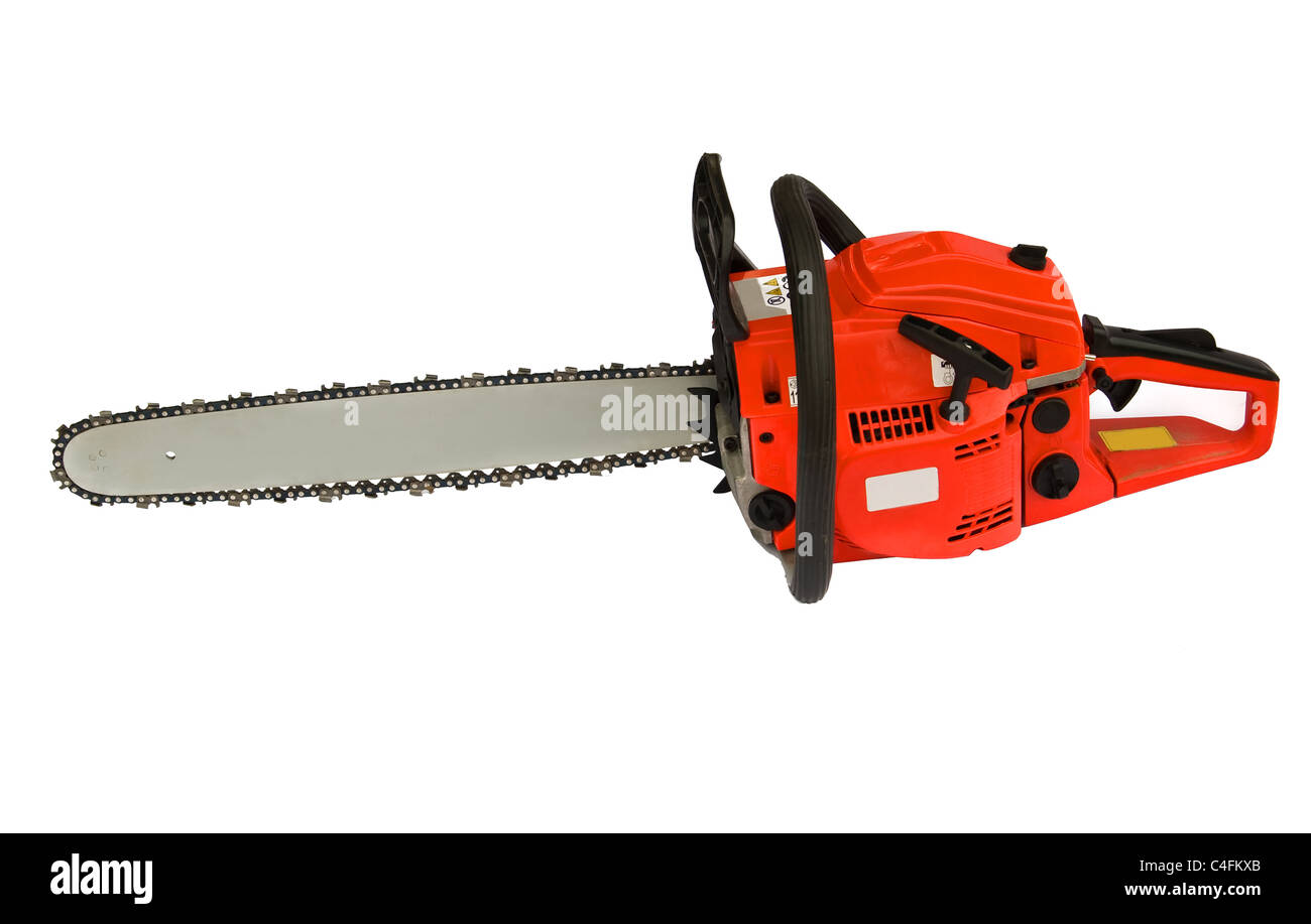 chainsaw isolated on white background Stock Photo