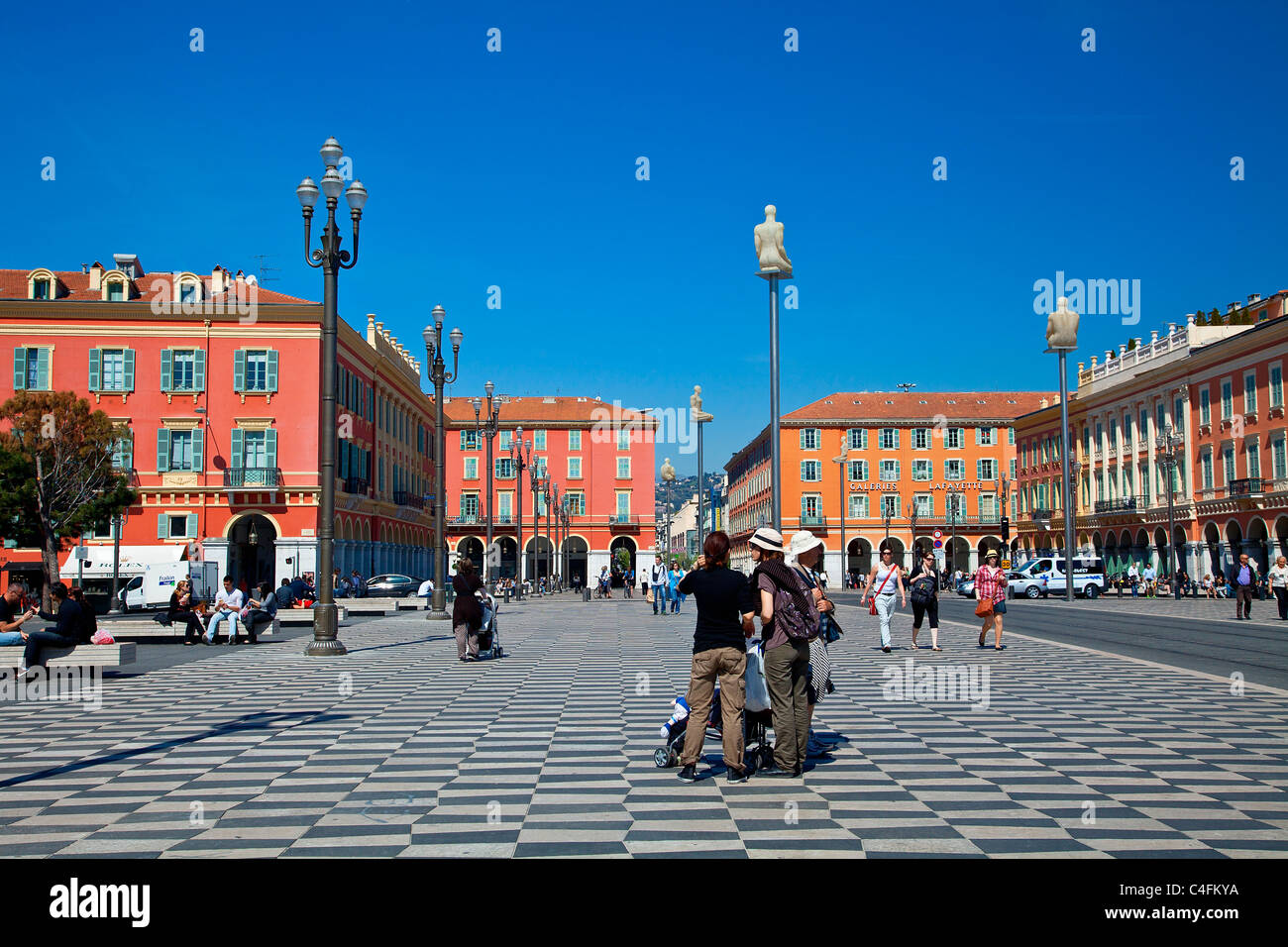 Europe, France, Alpes-Maritimes (06), Place Massena - Stock Image