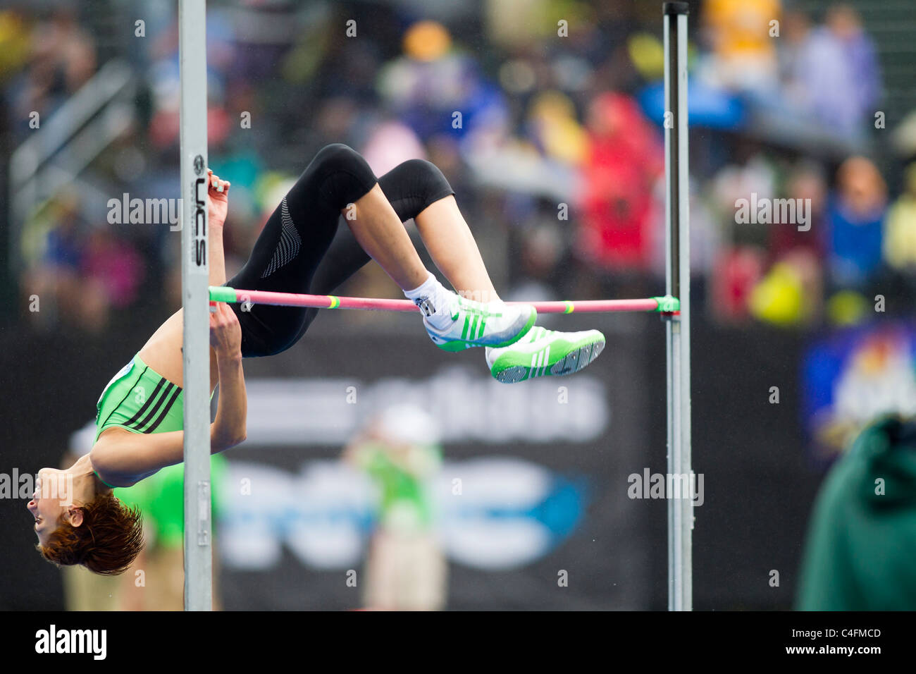 Blanka Vlasic (CRO) competing in the women's high jump at the 2011 NYC Grand Prix Track and Field competition. - Stock Image