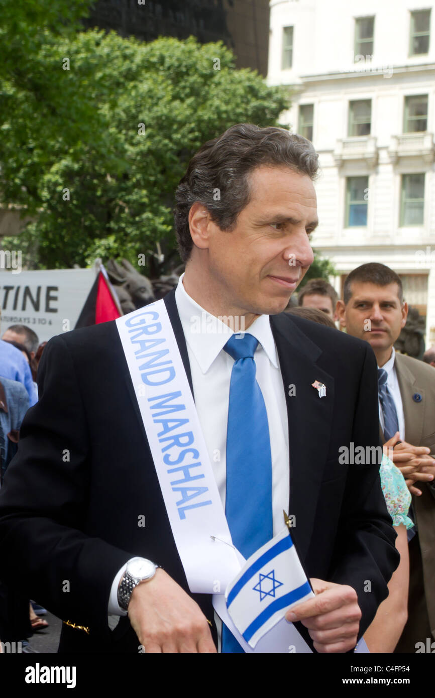 Grand Marshal New York Governor Andrew Cuomo at the 2011 Celebrate Israel parade in New York City. - Stock Image