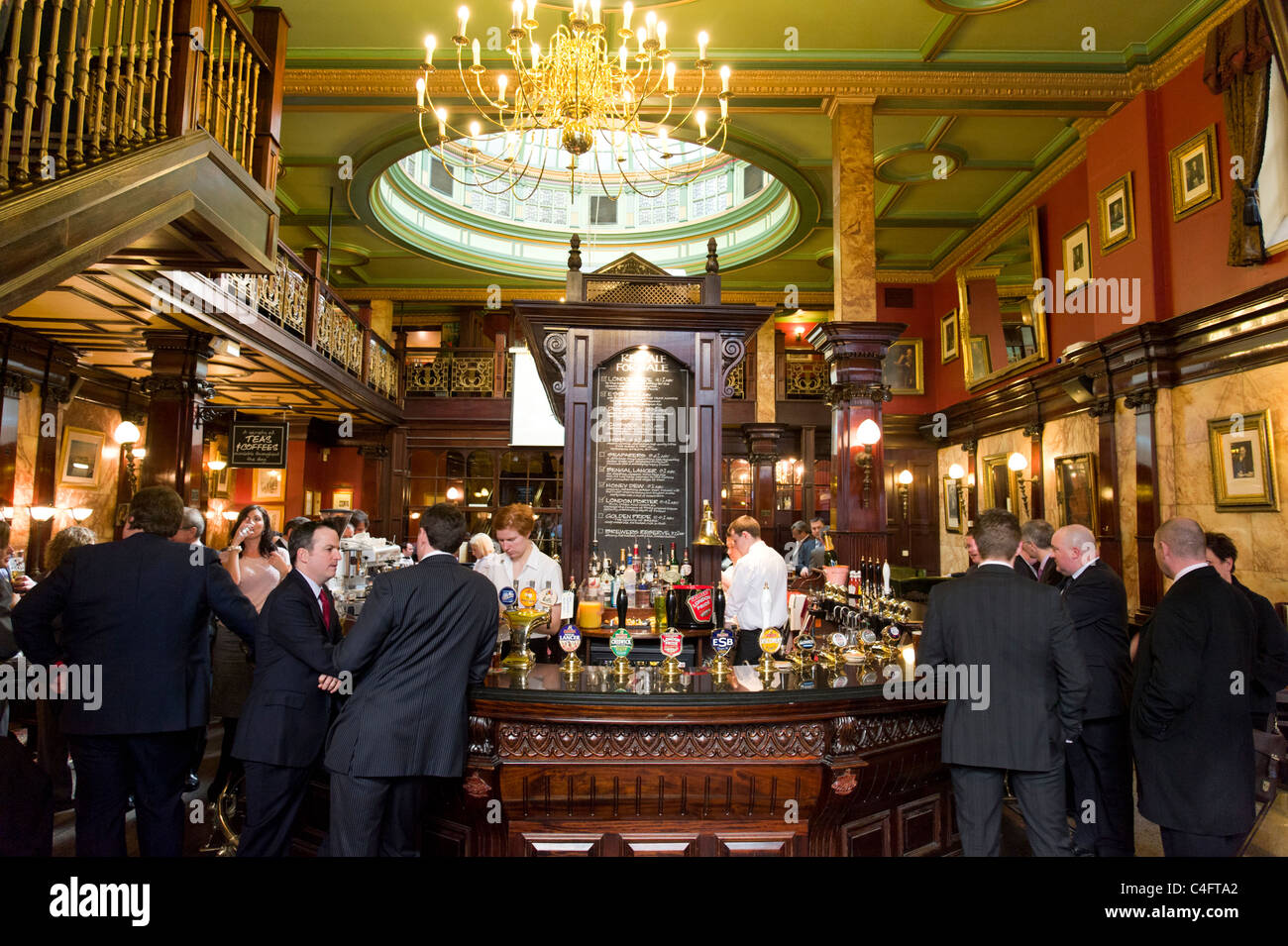 The Counting House pub in the City of London, UK - Stock Image