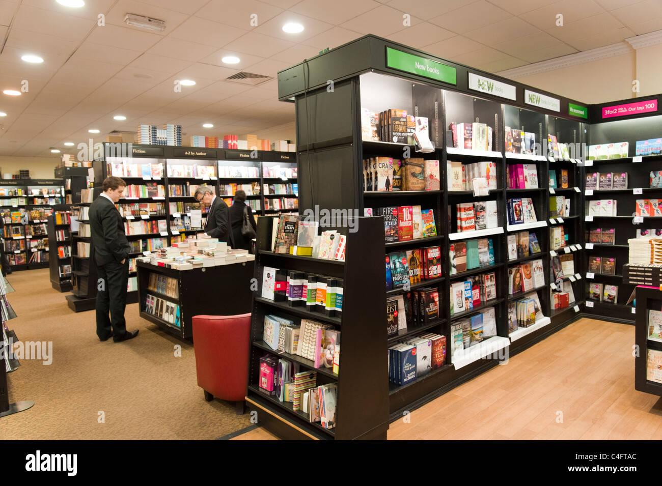 Waterstone's bookshop, London, UK - Stock Image