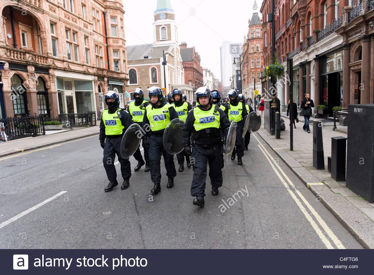 Riot police, London, UK - Stock Image