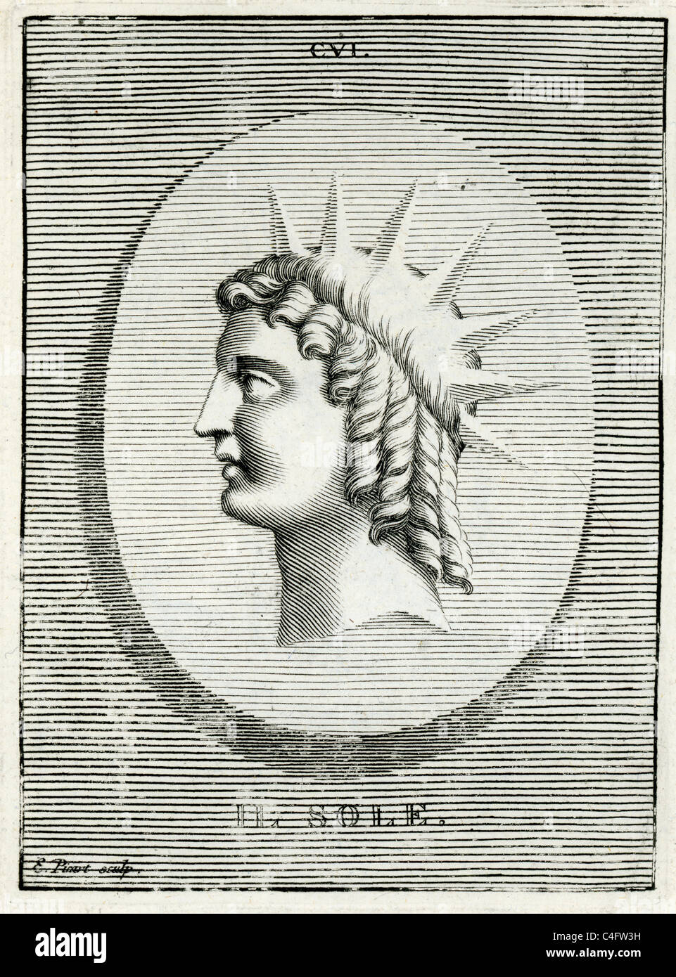 Classical Portrait Of Helios The Personification Sun In Greek Mythology Homer Often Calls