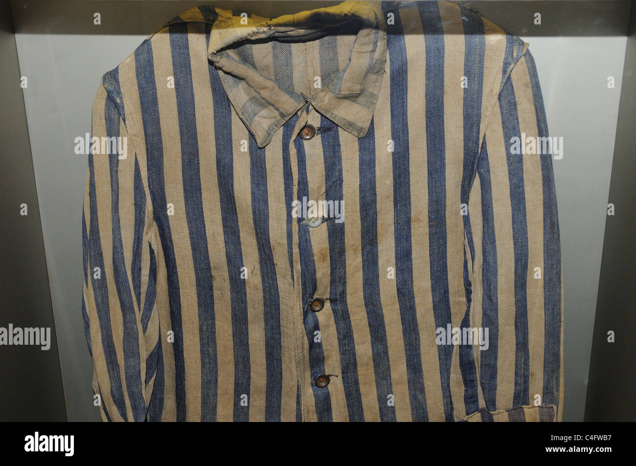 A striped shirt as worn by the Jews in concentration camps - Stock Image