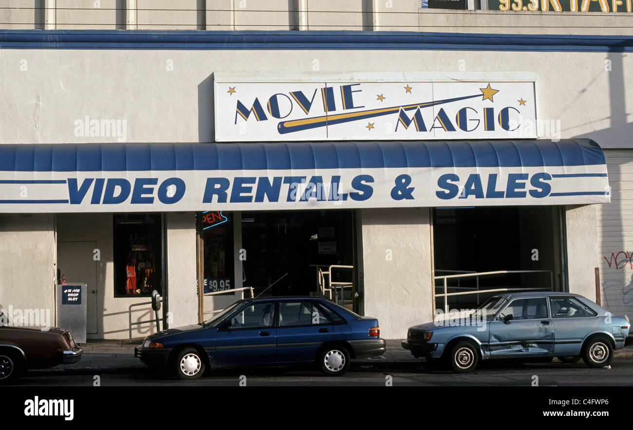 Movie Magic video store in San Francisco, California - Stock Image