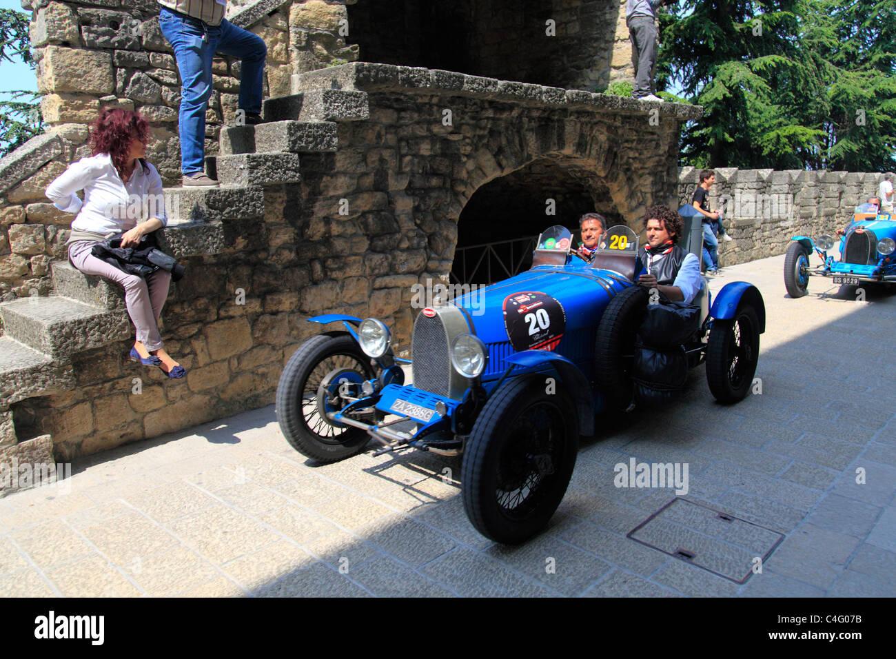 Mille Miglia 2011, Bugatti Type 37 1927   Stock Image