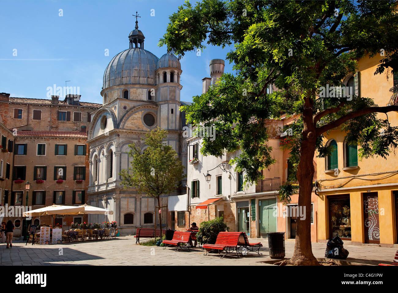 Venice, Campo Santa Nova - Stock Image