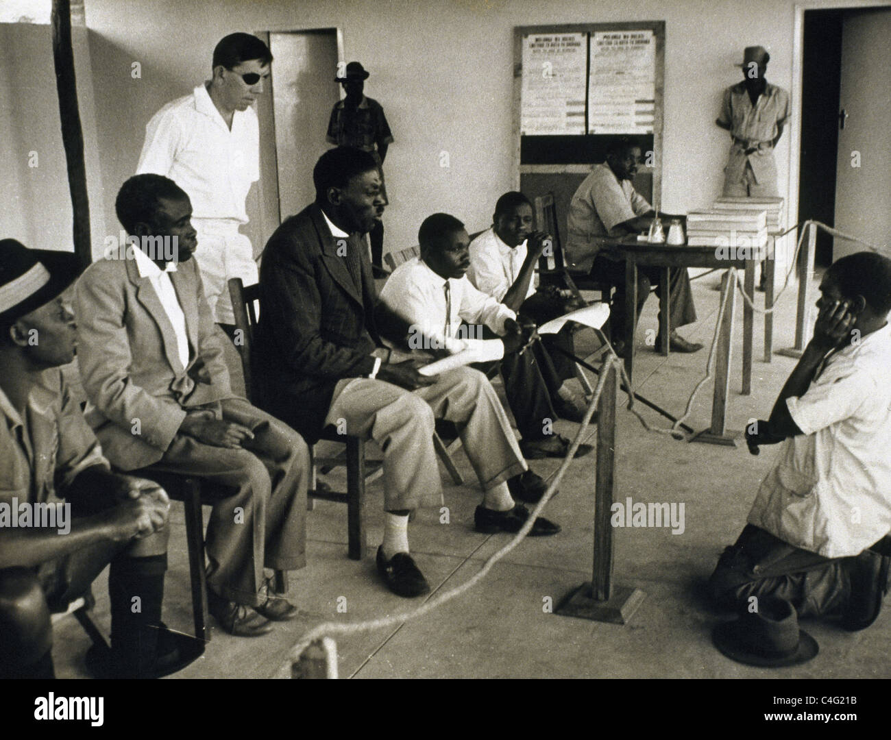 Elections in Northern Rhodesia, 1963. - Stock Image