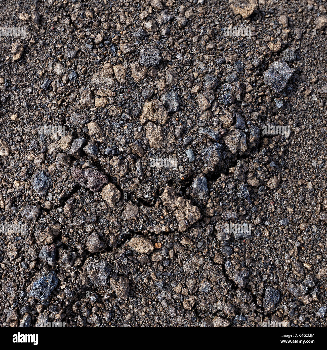 Fresh ash, pumice, lava, from the Grimsvotn volcanic eruption, Iceland - Stock Image