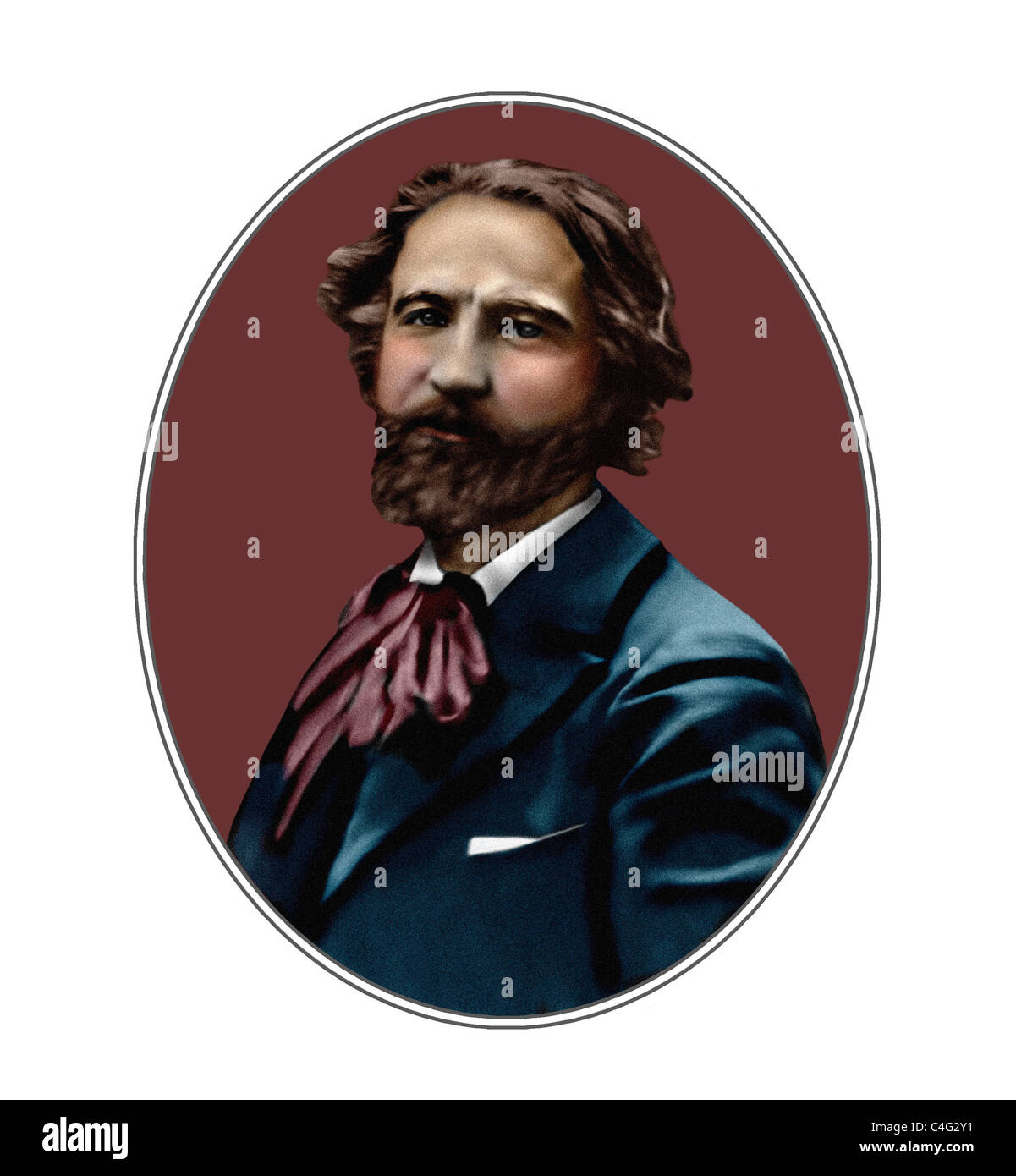Gustave Charpentier 1860 1956 French Composer Illustration - Stock Image