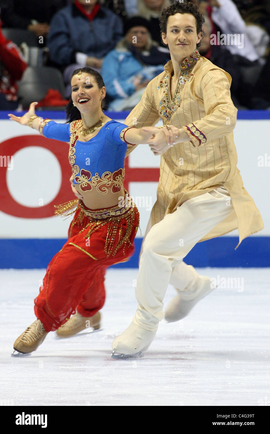 Mylene Girad and Jonathan Pelletier compete at the 2010 BMO Skate Canada National Championships in London, Ontario, - Stock Image