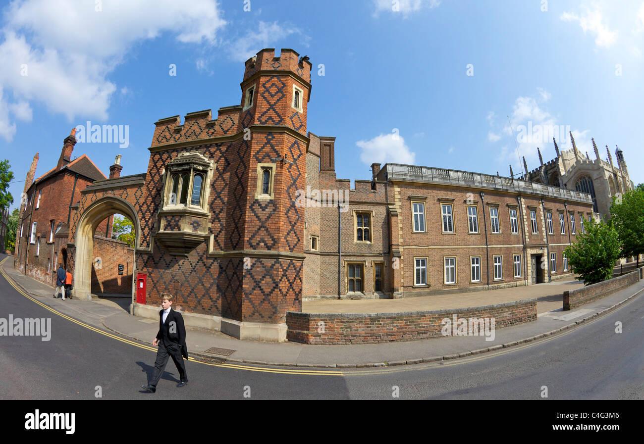 Public Schoolboy, Eton College, Eton School, Berkshire, England, UK, United Kingdom, GB, Great Britain, British - Stock Image