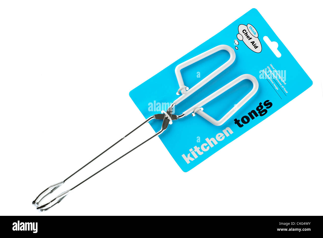 Think Chef aid kitchen tongs - Stock Image