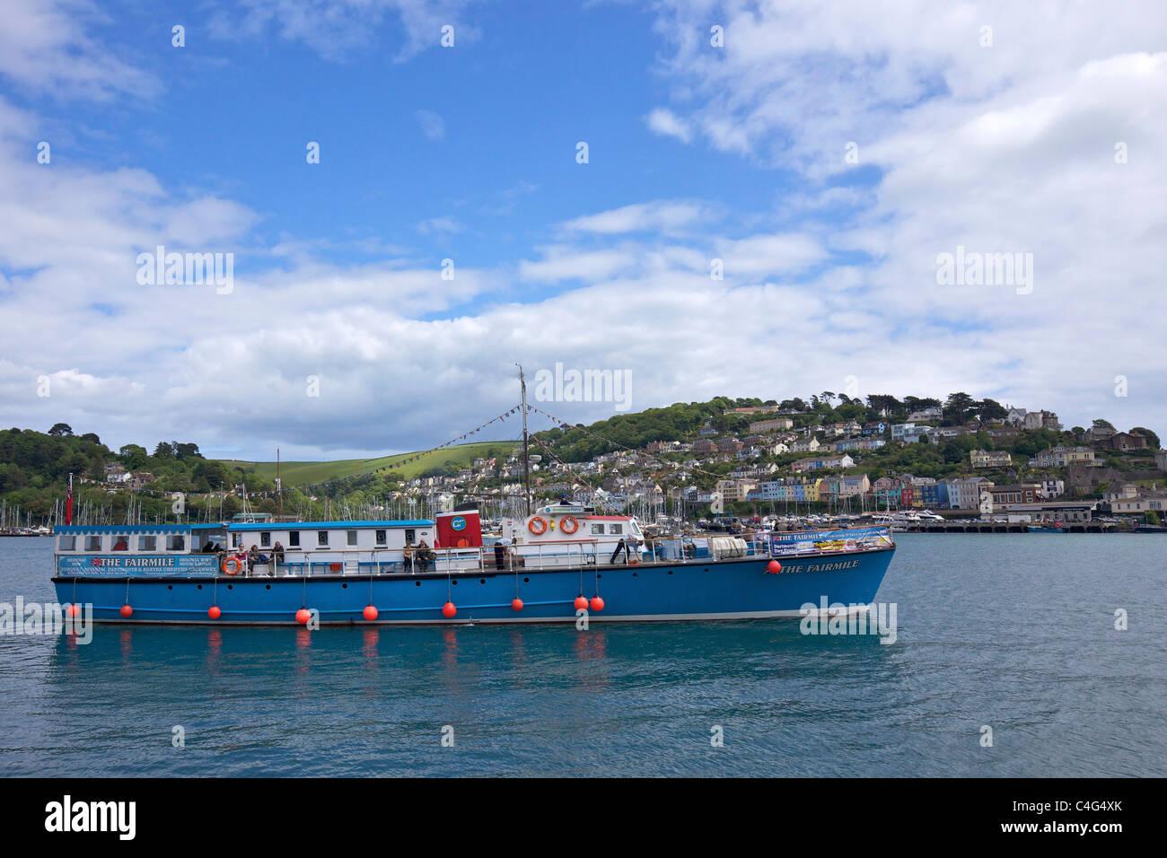 Fairmile passenger tourist ship in Dart estuary Dartmouth, Devon England UK GB British Isles - Stock Image