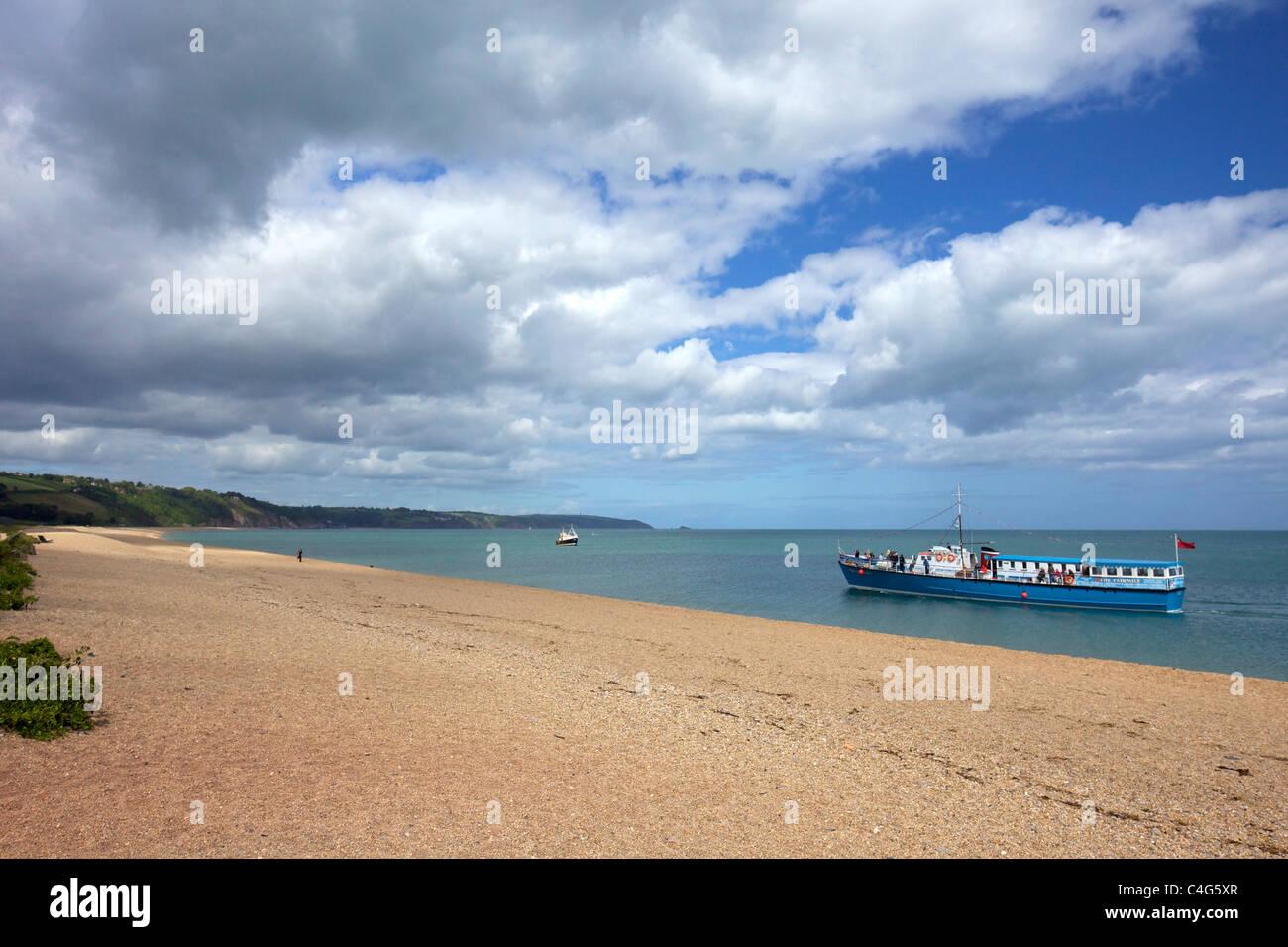 Fairmile passenger ship off Slapton Sands South Devon England UK  United Kingdom GB British Isles - Stock Image