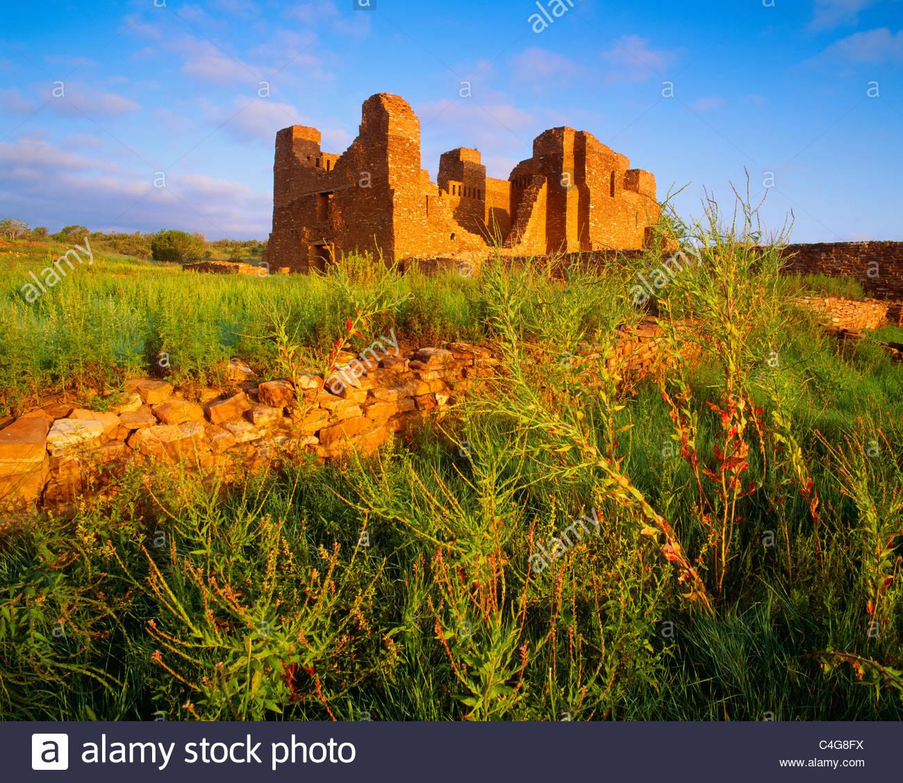 Church ruins at Quarai, [Salinas Pueblo Missions National Monument] 'New Mexico' - Stock Image